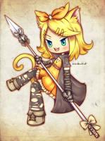 Kagamine Rin : Neko assassin by 8RainbowKat8