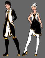 Uniform Pair by DuhQueenMoki