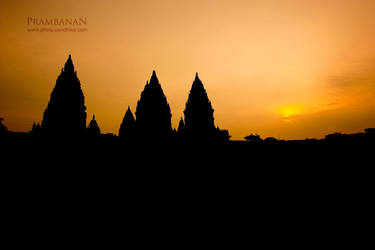 Prambanan in Sunset by cendhikaphoto
