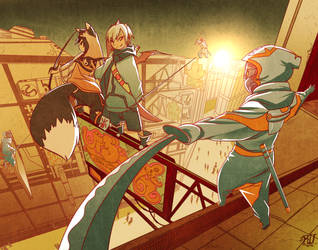 Kinzu and Enika vs 3 by phation