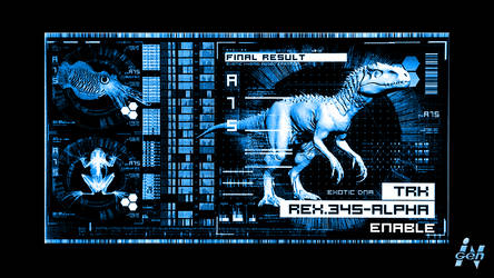 Jurassic World - Indominus Rex - 3D DNA Screen by DiggerEl7