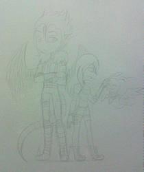 Beelzemon y Gray by Morado2