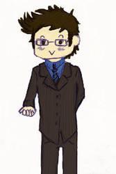 Chibi Tenth Doctor by Litu-chan
