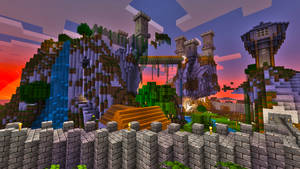 Minecraft Castle by skrufor