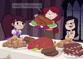Late Thanksgiving-Christmas dinner by murrlogic1