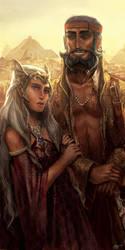 Daenerys and Daario by DjeDjehuti