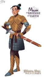 Mulan as Brienne of Tarth by DjeDjehuti