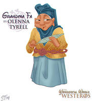 Grandma Fa as Olenna Tyrell by DjeDjehuti