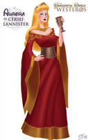 Aurora (Sleeping Beauty) as Cersei Lannister by DjeDjehuti