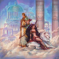 Lord and Lady by DjeDjehuti