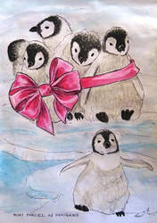 A mini parcel of penguins by Lew-Rosenberg