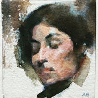Micro Female head. 7x6 sq. cm by facetheface