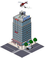 pixel city by Abarai-kun