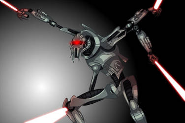 General Grievous as a Cylon by justingil
