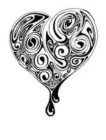 Heart black and white by moep424
