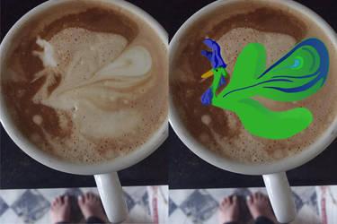 Pfau im Kaffeeorakel by moep424
