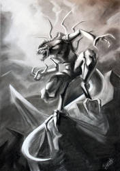 Creature - Charcoal by SinglePolygon