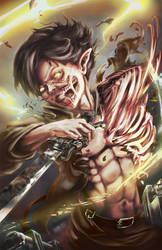 Attack on Titan - Eren by SinglePolygon