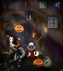 Lily And Halloween by Varagka