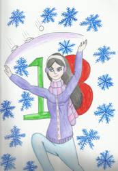 Christmas Countdown 2018:   Violet by kakashisgirlfighter