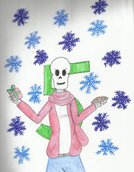 Christmas Countdown 2018: Papyrus by kakashisgirlfighter