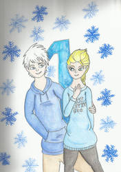 Christmas Countdown 2018: Jack Frost and Elsa by kakashisgirlfighter