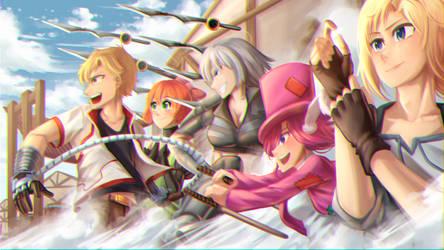 CG Commission- Fun Hunt Gang by ARSONicARTZ