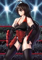 Wrestling Costume: Raven Branwen by ARSONicARTZ