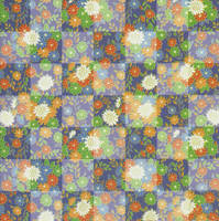 Blue Floral Checkerboard by amberwillow