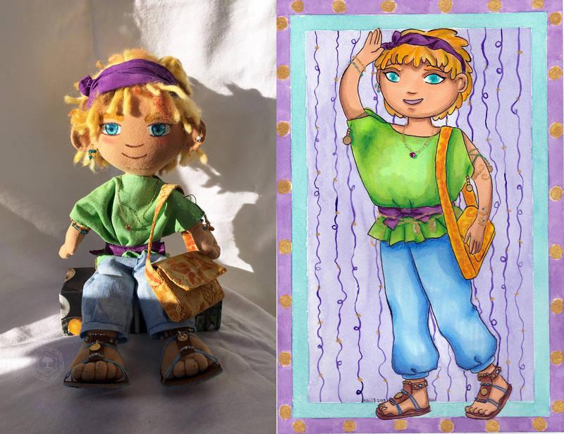 Sadiki Plush doll by amberwillow