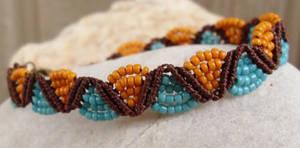 micro macrame bracelet by HempLady4u