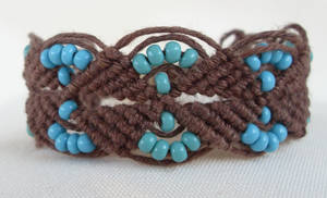 macrame hemp bracelet by HempLady4u