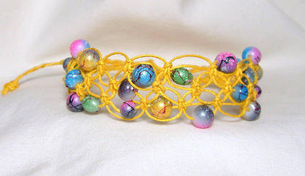 tiny bubbles hemp bracelet by HempLady4u