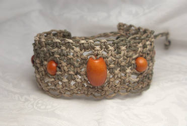 wide cuff variegated hemp adjustable bracelet by HempLady4u