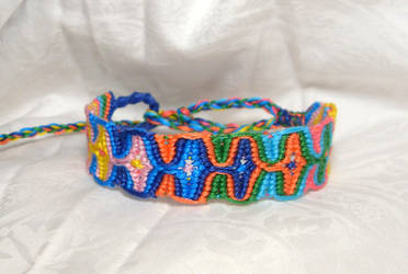 multi color friendship bracelet by HempLady4u