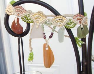 sea glass hemp anklet by HempLady4u