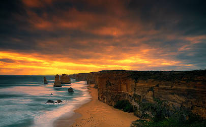 Sunset Over The Apostles by kate-art