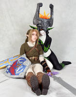 Link and Midna by JiiDragon