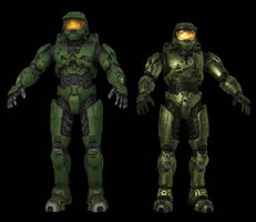 Halo 3 and Halo 2 Spartan by Keablr