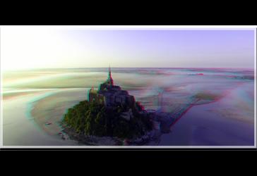 3D anaglyph Le Mont Saint-Michel 4 by gogu1234