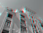 3D anaglyph Bucharest buildings (6) by gogu1234
