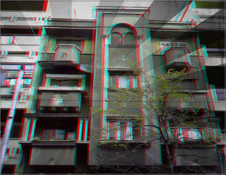 3D anaglyph Bucharest buildings (7) by gogu1234