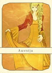Austeja (Bee Goddess) by Amalaaniwa