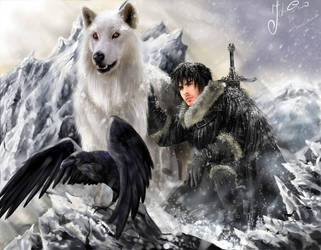 John Snow_Jon Snow_Ghost by BazukaTM
