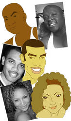 OHN Staff caricatures by dmario