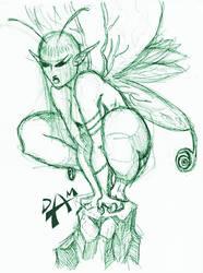 Sulking fairy by dmario