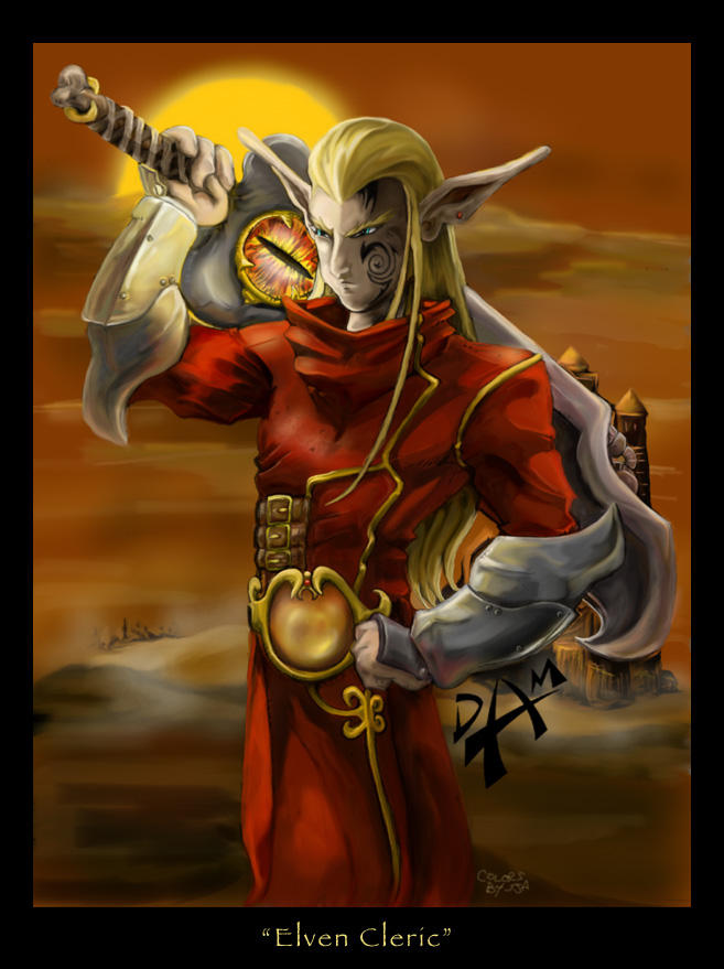 Elfin Cleric by dmario