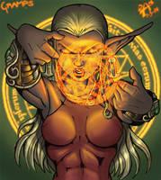 Elfin priestess by dmario