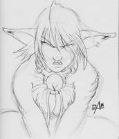 Mocha close up - inkpen sketch by dmario
