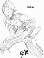 Ultraman NEXUS - inkpen sketch by dmario